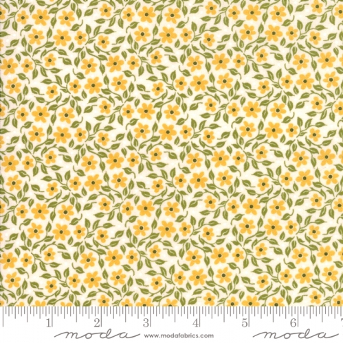 MODA FABRICS - Nova - Small Floral Bleached Linen - #2732-