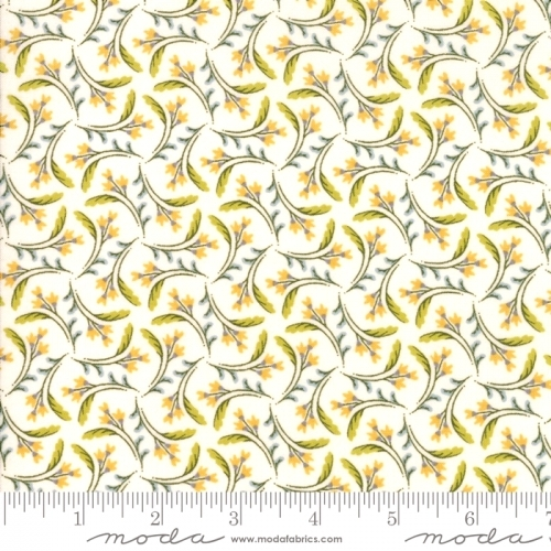 MODA FABRICS - Nova - Blossoms Bleached Linen - #2744-
