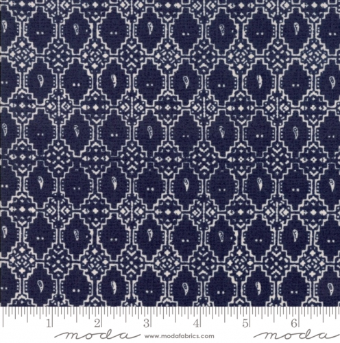 MODA FABRICS - Nova - Geometric Blue Graphite - #2749-