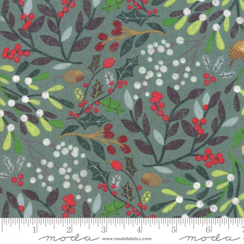 MODA FABRICS - Kringle Claus - Blue Spruce