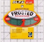 Clearance - Olfa Frosted Acrylic Ruler 6.5 inch