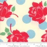 MODA FABRICS - Cheeky - Roses & Polka Dots White - #1938-