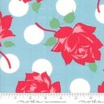 MODA FABRICS - Cheeky - Roses & Polka Dots Blue
