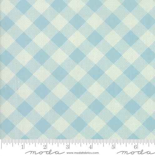 MODA FABRICS - Cheeky - Gingham Aqua - #1937-