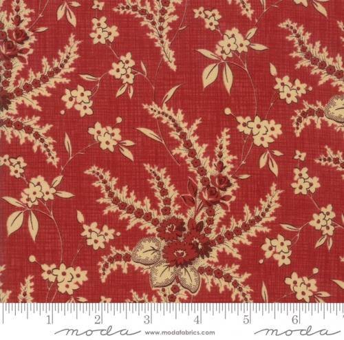 MODA FABRICS - Susannas Scraps - Floral Chocineal