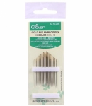 Clover Gold Eye Embroidery Needles (No. 3-9)
