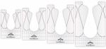 Good Measure - Every Ribbon Candy Set 4 pcs Longarm Quilting Templates by Amanda Murphy