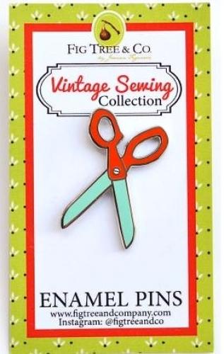 Retro Scissors Enamel Pin by Fig Tree Quilts