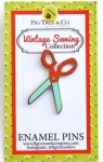 Clearance - Retro Scissors Enamel Pin by Fig Tree Quilts