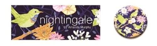 Quilt Dots - Nightingale Magnetic Needle Tin by Amanda Murphy