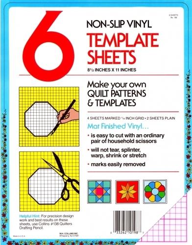 collins set of 6 non slip vinyl template sheets 033262101987