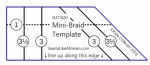 Mini Braid Template by Kate Colleran