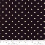 MODA FABRICS - Linen Mochi Dot - Black