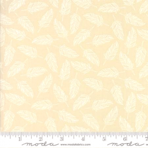 MODA FABRICS - Whispers Muslin Mates - Feathers - Natural - C81-