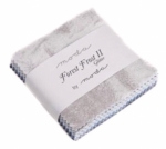 Forest Frost II Glitter Mini Charm Pack - Moda Precuts
