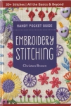 Embroidery Stitching Handy Pocket Guide by Christen Brown