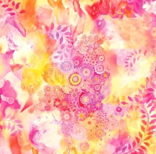 MODA FABRICS - Gradients II - Watercolor Garden Pink