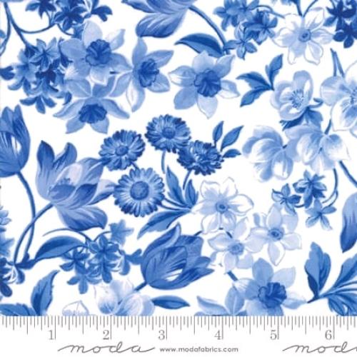 MODA FABRICS - Summer Breeze VI - Ivory Large Floral