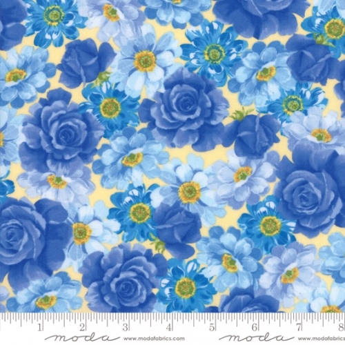 MODA FABRICS - Summer Breeze VI - Yellow Large Floral - #2022-