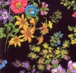 MODA FABRICS - Wildflowers IX - Onyx Tossed