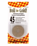 Roll the Gold Titanium 45mm Rotary Blades 10 ct