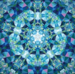 Clearance - Gradients Kaleidoscope - Kaleidoscope Panel - Blue Moda Digital