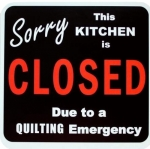 Magnet - Sorry Kitchen is Closed 5.25 inch