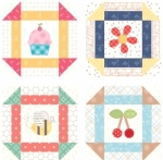 Bee Happy Coaster Set 4 pieces by Lori Holt