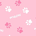 CAMELOT FABRICS - Cat Rules - Paws - Pink #2964