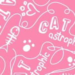 CAMELOT FABRICS - Cat Rules - Catastrophic - Pink #2959