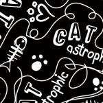 CAMELOT FABRICS - Cat Rules - Catastrophic - Black