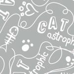 CAMELOT FABRICS - Cat Rules - Catastrophic - Gray