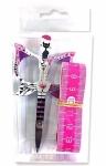 Cat Scissor / 60 inch Tape Measure - Pink