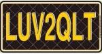 LUV2QLT License Plate