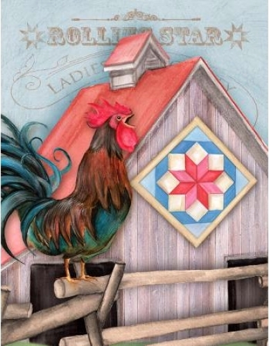Note Cards Quilt Chicken Coop Rolling Star