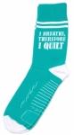 Sock - I Breathe Therefore I QUILT Socks by Moda Fun Stuff