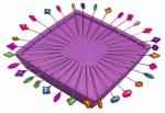 Zirkel Purple Magnetic Pin Holder
