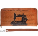 Clearance - Sewing Machine Vegan Leather Wallet Tacony