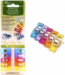 Clover Wonder Clips Assorted Colors - 10 Pack