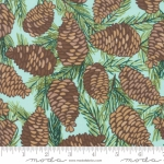MODA FABRICS - To Be Jolly - Frosty - Pinecones