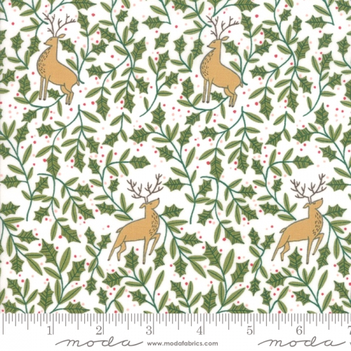 MODA FABRICS - To Be Jolly - Snowflake - Holly