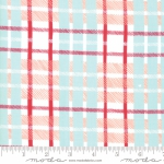 MODA FABRICS - To Be Jolly - Frosty Berry- Plaid