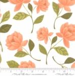 MODA FABRICS - Goldenrod - Raleigh Floral - White