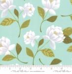 MODA FABRICS - Goldenrod - Raleigh Floral - Aqua