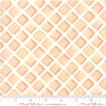 MODA FABRICS - Goldenrod - Tiles - Coral White