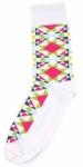 Sock - Block Star White Socks by Moda Fun Stuff
