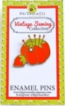 Tomato Pin Cushion Enamel Pin by Fig Tree Quilts
