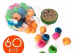 60 Pc Jar Peels Spool Huggers
