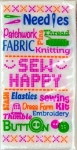 Sew Happy - Sewing Themed Pocket Tissue