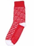 Sock - Eat Sleep Quilt Red & White by Moda Fun Stuff